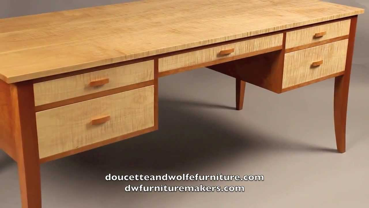 Custom writing desk handmade by doucette and wolfe for Custom made furniture