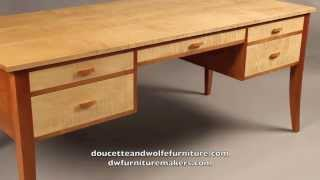 Custom Writing Desk Handmade By Doucette And Wolfe Furniture Makers