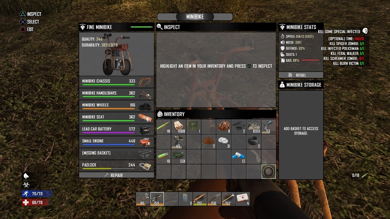 How To Make A Minibike On 7 Days To Die 7 Days To Die Ps4 Xbox