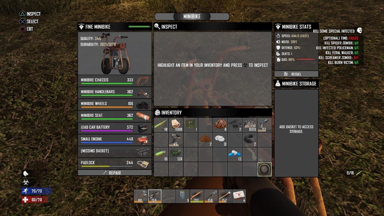 Days To Die Crafting Minibike