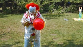 Scary Clown Pennywise From It Attacks While weee are Playing Pie Face Sky High