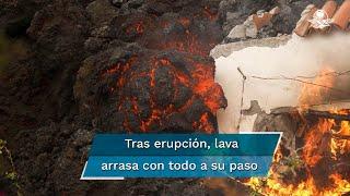 A dos días de la erupción y tras evacuar a casi 6 mil personas, la destrucción por lava y residuos de magma se ha hecho notar en la isla espa