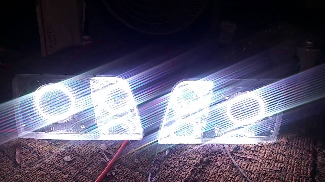 98 ford crown vic projector retrofit headlights with colorshift halo s