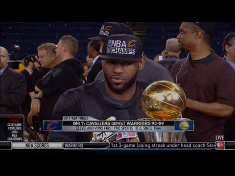 LeBron James Cavs Championship Win Interview w/ Isiah Thomas   LIVE 6 19 16
