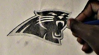 HOW TO DRAW: Carolina Panthers logo