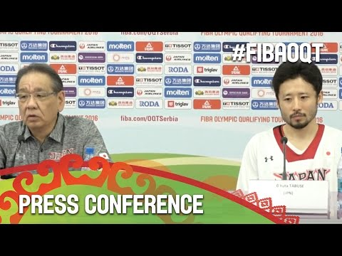Japan v Latvia - Press Conference - 2016 FIBA Olympic Qualifying Tournament - Serbia
