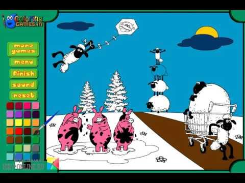 Игра Раскраска Баранчик Шон онлайн