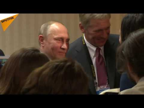 Putin Gets Unusual Gift  From Peruvian Woman
