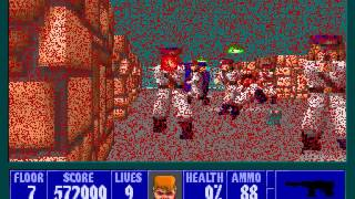 Let's Play Wolfenstein 3D 38: The Low Health Blues