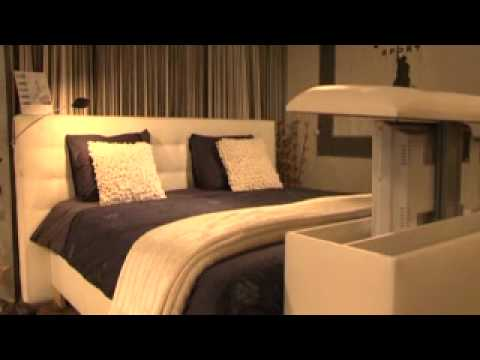 slaapcomfort danini limburg boxspring met tv lift - YouTube