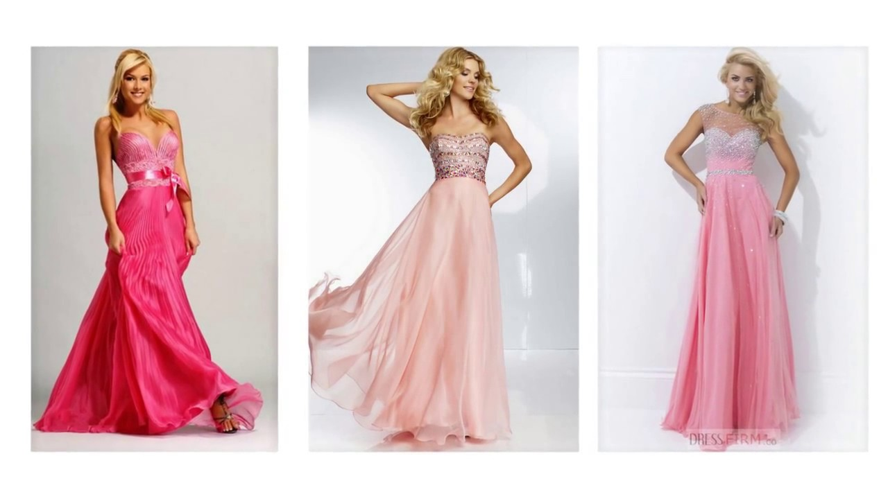 Top 100 Pink maxi dresses, long pink prom dresses for women - YouTube
