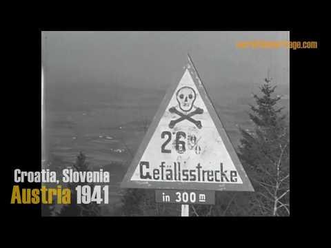 1941: Croatia - Slovenia - Austria - WWII - The Alps By Train &  Bus