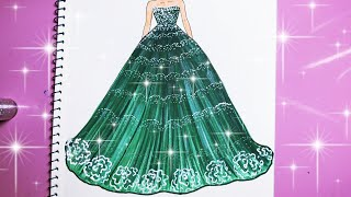 Draw Green Dress - Vẽ Váy - An Pi TV Coloring