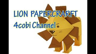 Zoo Animal Craft: Paper  Lions | 4cobi channel