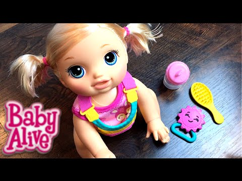 59c389aa10 New Crawling Baby Alive Go Bye-Bye Blonde Doll Opening and Feeding ...