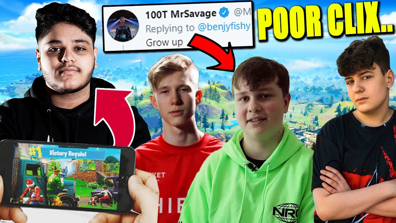 MrSavage ROASTS Benjyfishy! Issa Switches to MOBILE! WHY? Clix FREAKING OUT!