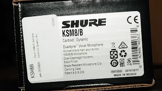 Shure KSM8 Unboxing + First Impression
