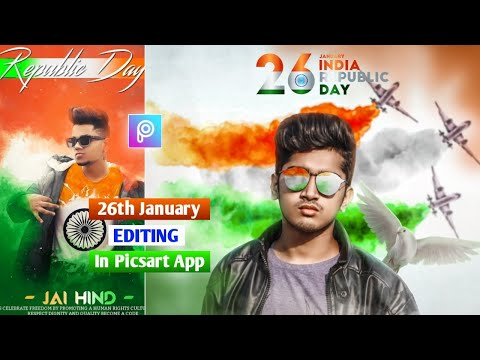 Picsart Happy Republic Day Photo Editing India 2021 || 26 January Republic Day Photo Editing 2021