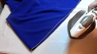 Как подшить изделие платье с клеящейся   лентой  Флизелиновая лента для подгибов