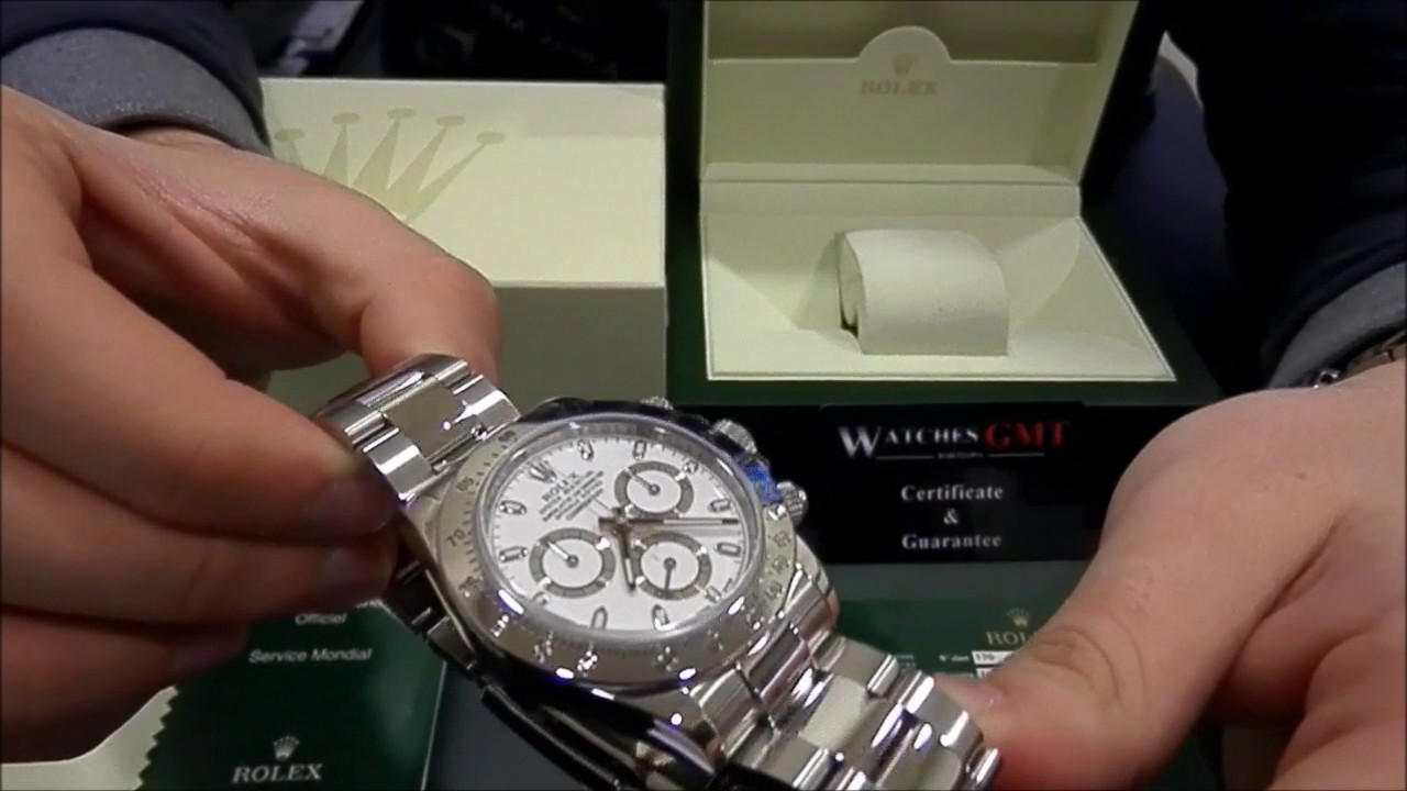 best authentic 11ccc 5471a Rolex Daytona Chrono 116520 Serie V White Dial   WatchesGMT