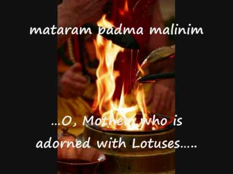 Sri Suktam -  Rig Veda Hymn with English subtitles - Mahalakshmi - Goddess of Wealth