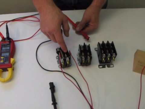 how a contactor works youtube rh youtube com  120 volt coil contactor wiring diagram