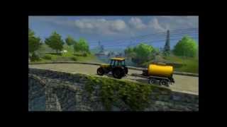 Farming Simulator 2013 (Three trailers) Country Boy) John Denver) GifMike