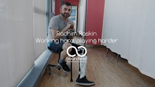 Radhim Does it all in his Knee-Ankle-Foot Orthosis (KAFO): working hard, playing harder