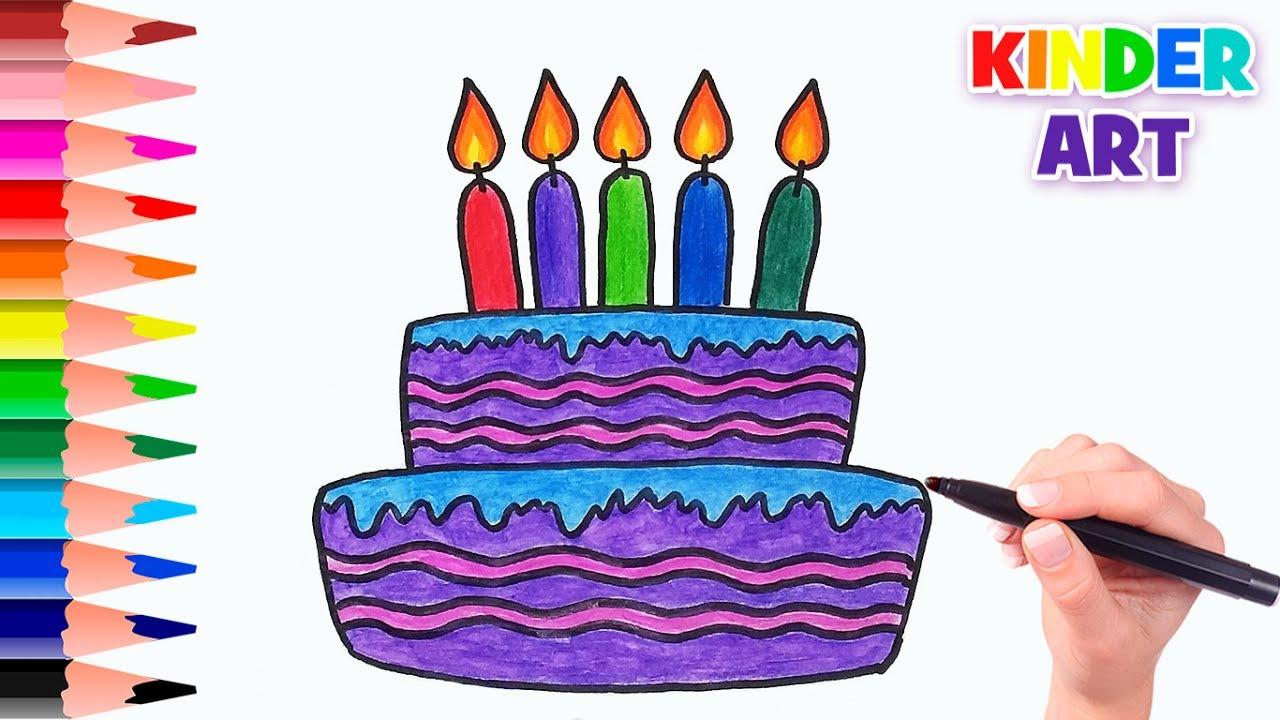 Открытка маме на день рождения рисунок фломастерами