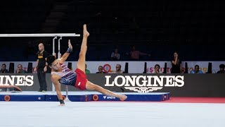 Yul Moldauer (USA) FX 2019 Worlds Stuttgart - Podium Training
