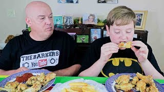 Baked Chicken Drumettes Mukbang | The Barkers