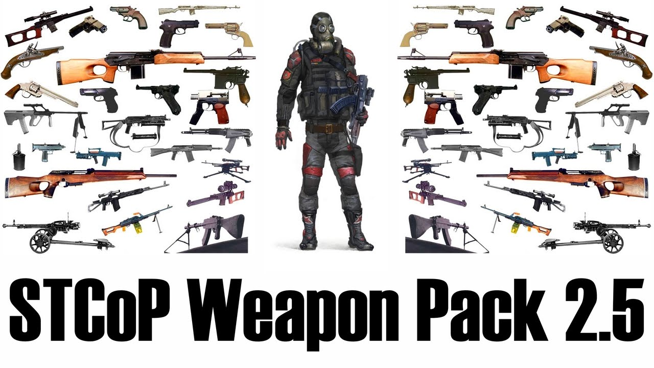 Скачать stcop weapon pack 2.5 для сталкер зов припяти