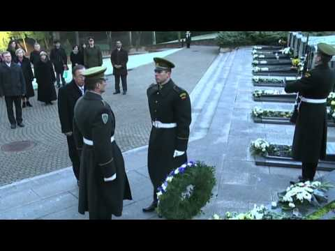 The arrival to Lithuania of UN Secretary General Ban Ki-moon