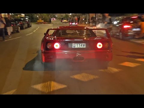 Ferrari F40 w/ Tubi Exhaust - INSANE Powerslide!