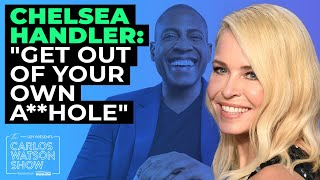 "Get to know the real chelsea handler. famed comic keeps carlos laughing while discussing how she fights against injustice, and encourages us ""get out ..."