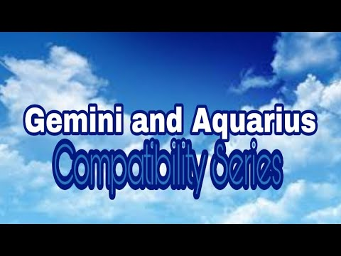 Relationship between gemini man and aquarius woman