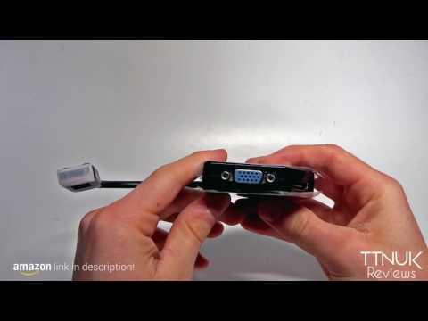 VicTsing New Black 1080P 20 Pin DisplayPort (3 in 1) Display Port DP Male To HDMI DVI VGA Female