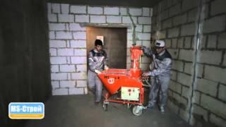 Штукатурные работы в СПб: машинная штукатурка стен и потолков от