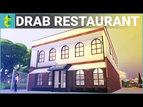 The Sims 4 Build - Drab Restaurant (Real-time Build)