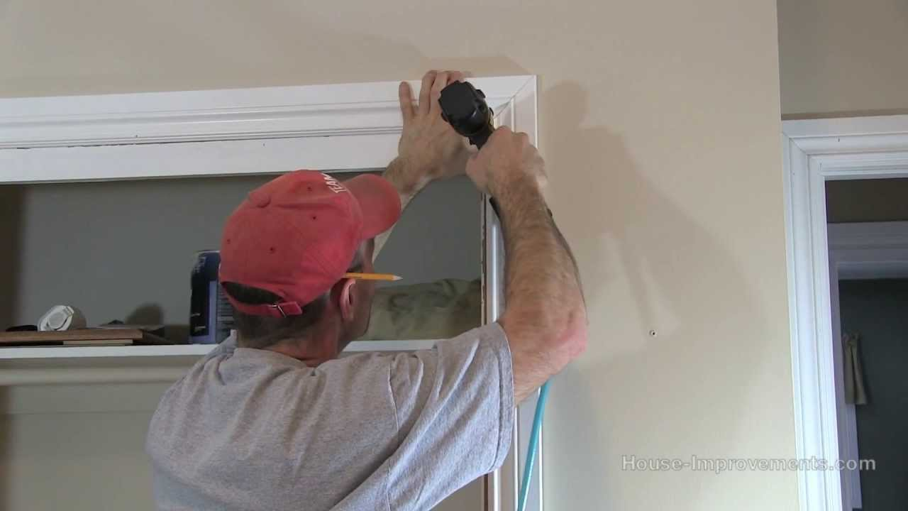 How to install window door trim casing youtube - Installing a lock on a bedroom door ...