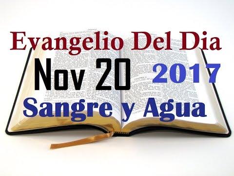 Evangelio del Dia- Lunes 20 Noviembre 2017- Tener Fe Como El Ciego- Sangre y Agua