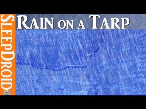 ► 10 Hours of Rain on a Tarp (tarpaulin) Rain on tarp sleep sounds. Rainfall Sounds for Sleeping