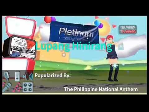 Lupang Hinirang By The Philippine National Anthem Karaoke