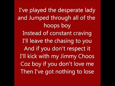 Red Dress - Sugababes Lyrics