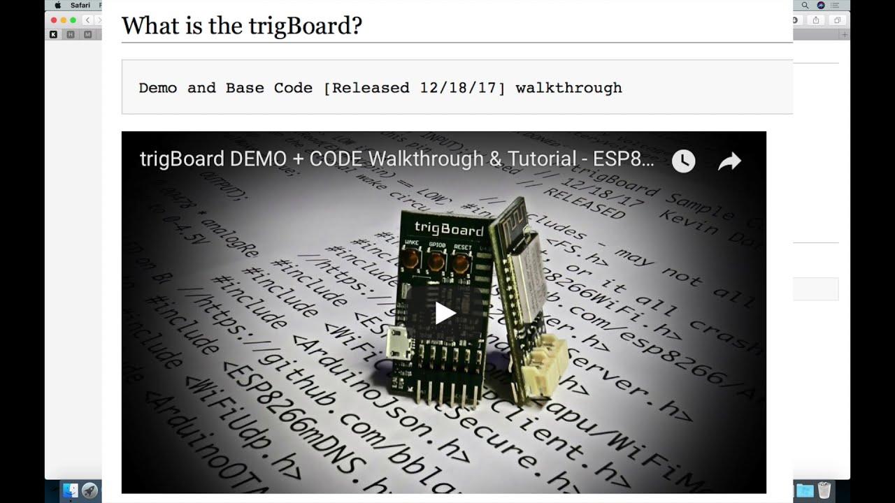Esp8266 (Wifi) + Camera Tutorial Code With Trigboard & Arducam  Kevin  Darrah 36:26 HD