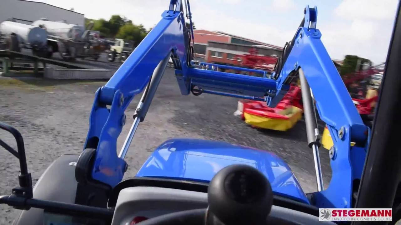 New holland td mit frontlader youtube