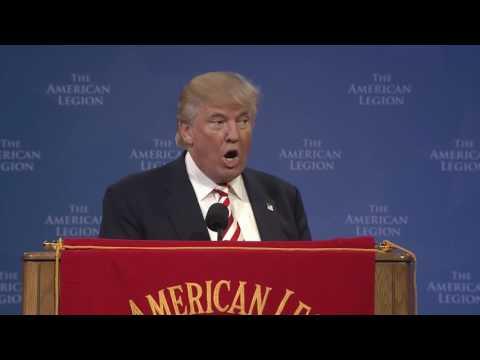 Donald Trump Addresses The American Legion National Convention