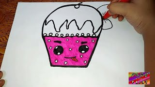 cup cake drawing for kids | play learn paint