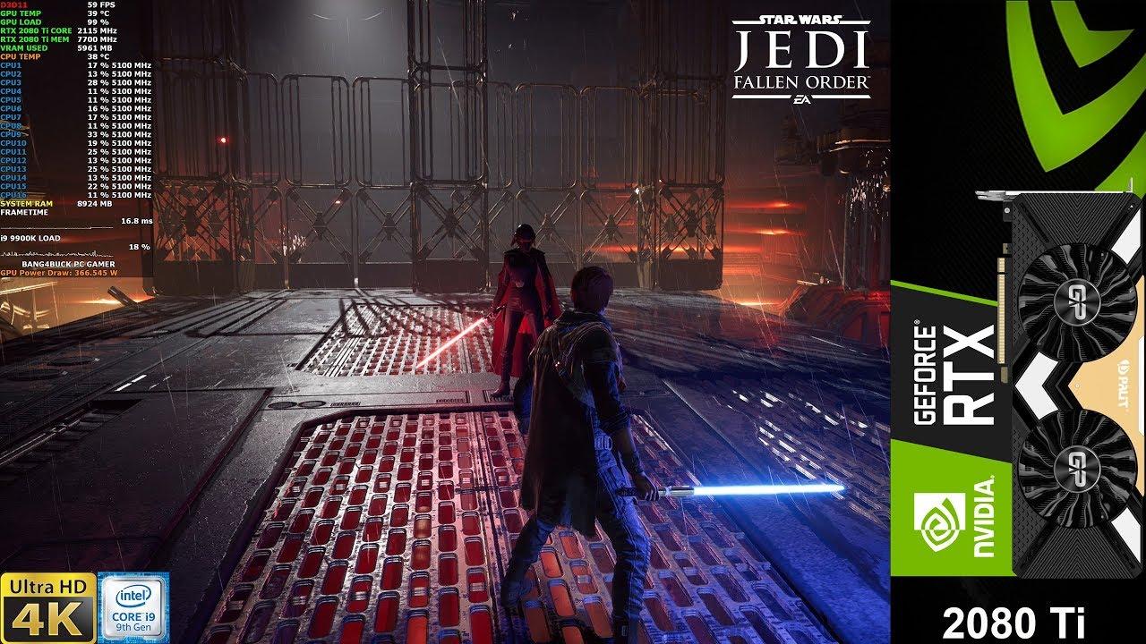 Star Wars Jedi Fallen Order Epic Settings 4K | RTX 2080 Ti | i9 9900K 5.1GHz