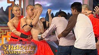 Aksi Shaolin Dengan Tenaga Dalam Meletakkan Mangkuk Di Perut [Shaolin Warrior Show] [17 Feb 201]